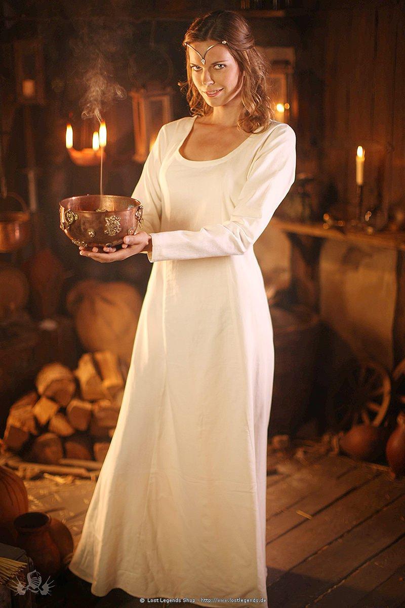 Larp Kleid weiße Priesterin