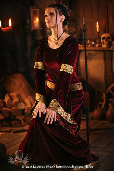 Larp Samt-Kleid Witch of Dawn