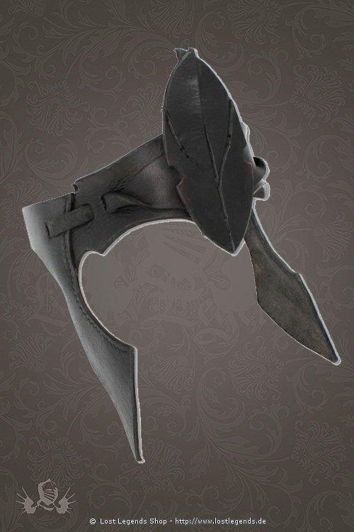 Leder Elfenkrone schwarz