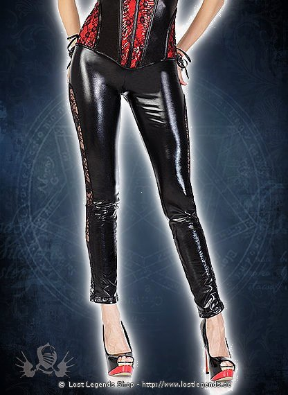 Leggings with Lace Panels Wetlook