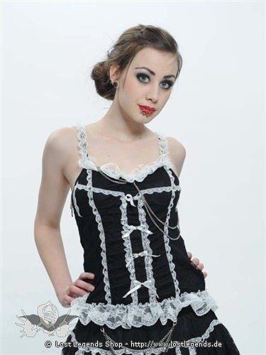Lolita-Top mit Rüschen