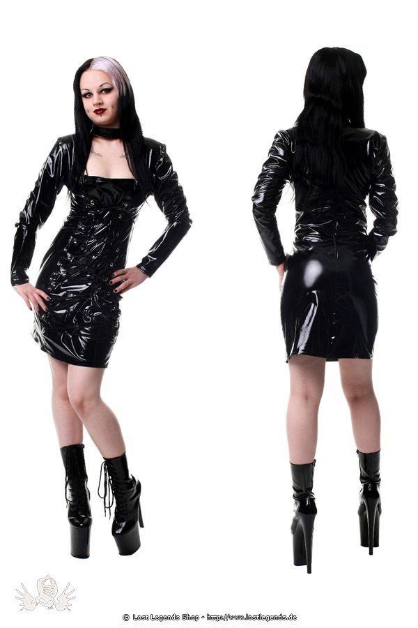 Longsleeve Gloss Rachel Gothic Lack Kleid