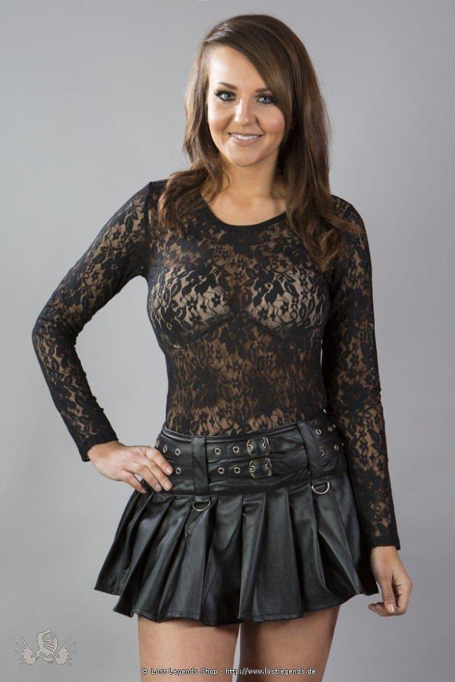 Lucy mini skirt black matte | Gothic Kleidung