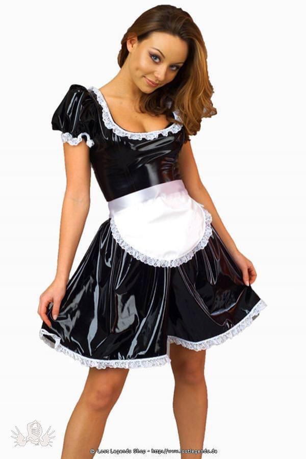 Maid Kost 252 M Lack Kleid Halloween Kost 252 Me