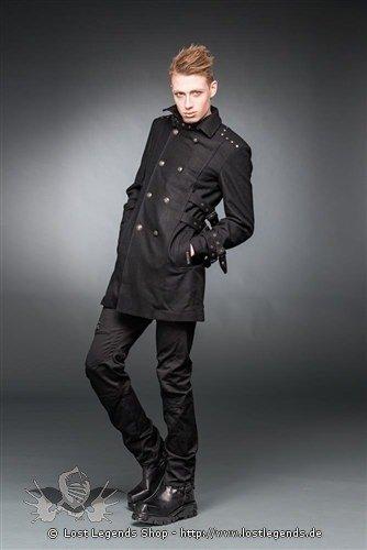 Mantel  mit hohem Kragen, Schnallen und großen Knöpfen