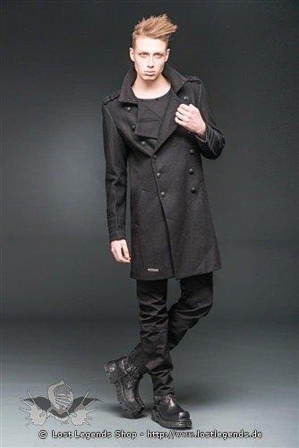 Mantel mit Stehkragen im Military Look