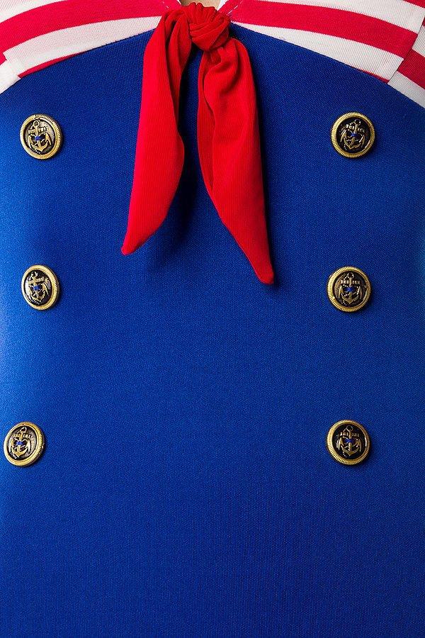 Marinekleid blau/rot/weiß