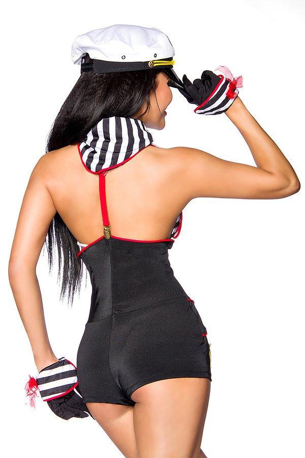 Marinekostüm schwarz/rot/weiß
