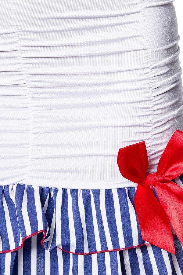 Marinekostüm weiß/blau/rot