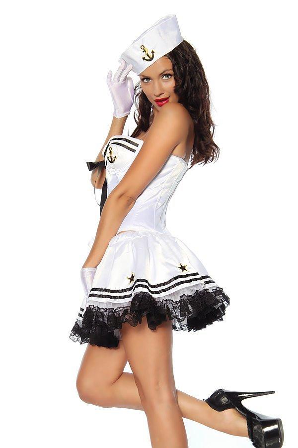 Marinekostüm weiß/schwarz