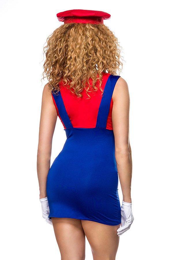 Mario Kostüm rot/blau/weiß