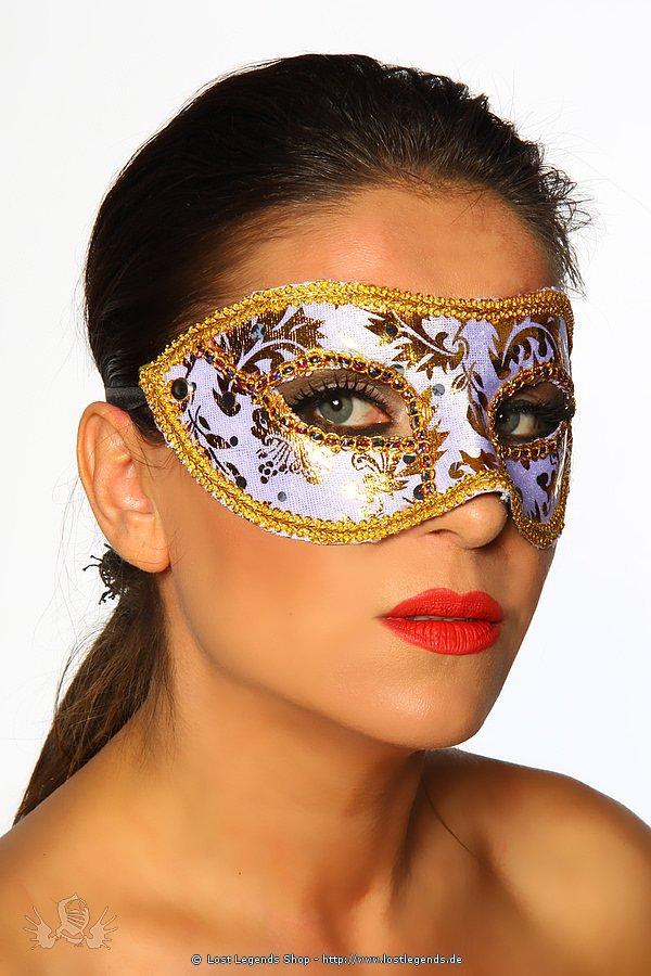 Maske gold/weiß