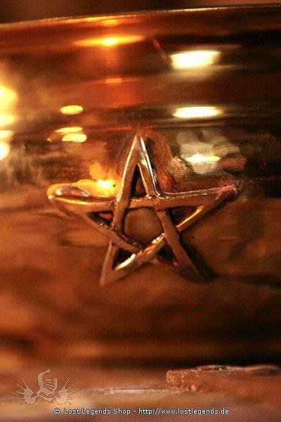 Messingschale mit Pentagramm