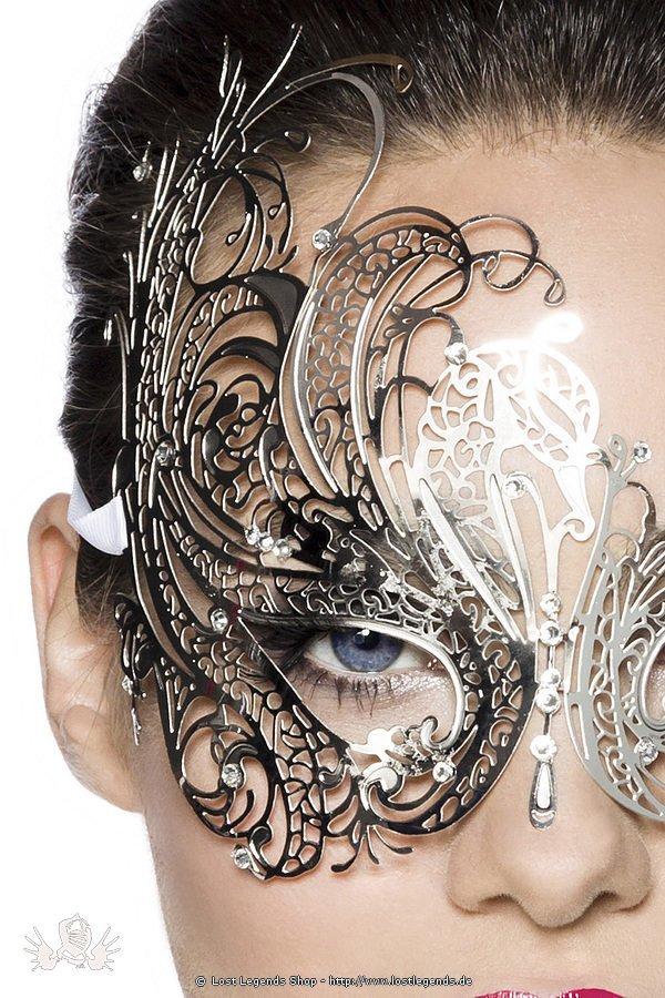 Metallmaske silber