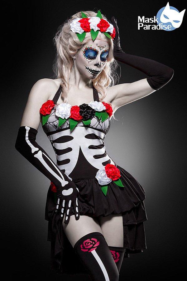 Mexican Skeleton Komplettset schwarz/weiß