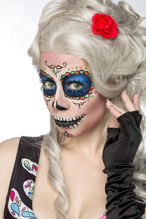 Mexican Skull schwarz/bunt