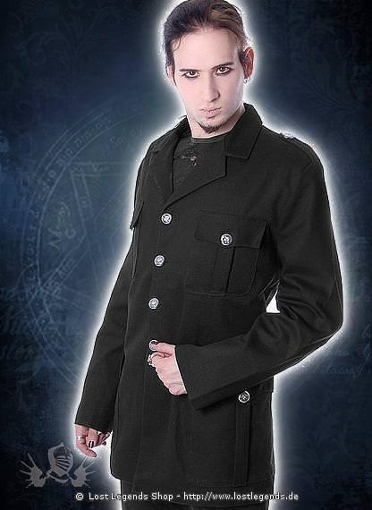 Military Style Jackt Gothic Jacke, Baumwolle