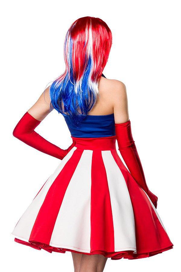 Miss America Kostümset blau/rot/weiß