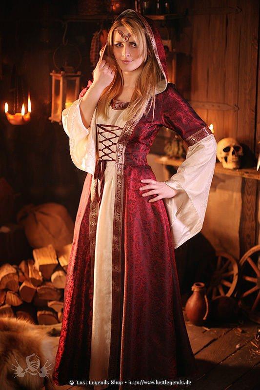 Mittelalter Kleid Brokat