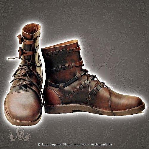 Mittelalter & Larp Schuhe Kundschafter, Leder