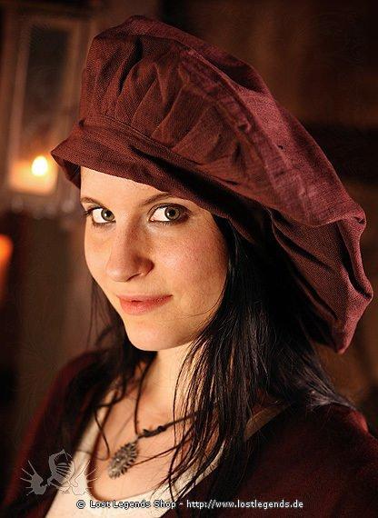 Large Medieval Beret Cotton