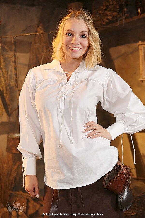 Mittelalter Damenhemd Hildburg