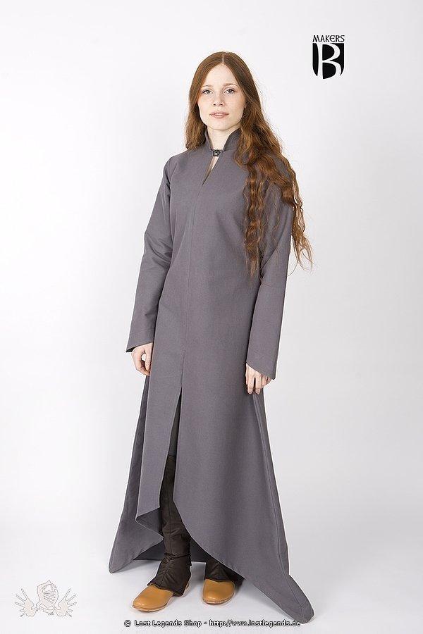 Mittelalter Gewand Ranwen, grau