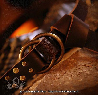 Mittlelaterlicher Schwertgürtel mit Ringen 175 cm