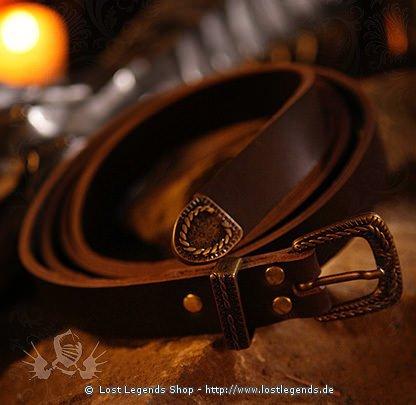 Mittelalterlicher Ledergürtel mit Schnalle 170 cm