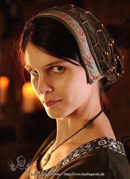 Medieval Noble Ladies Bonnet der Edeldame