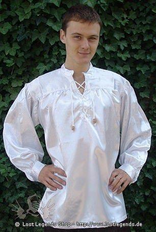 Mittelalter Hemd Satin