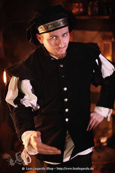 Mittelalter Jacke mit geschlitzten Ärmeln