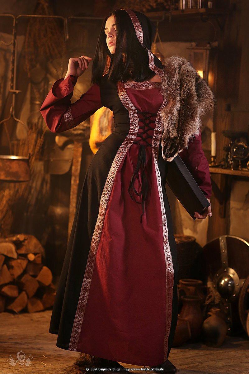 Mittelalter Kleid mit Bordüren
