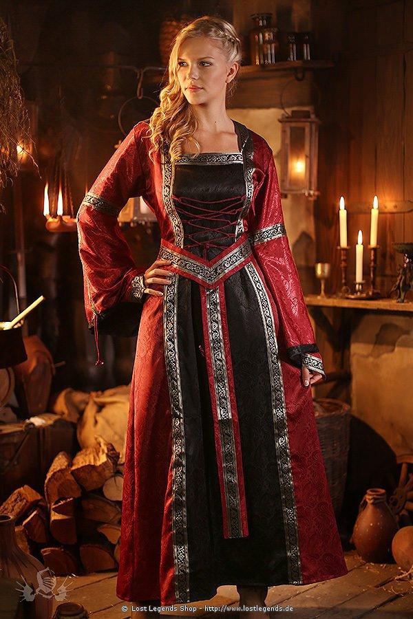 Mittelalter Kleid Rubyna, Brokat