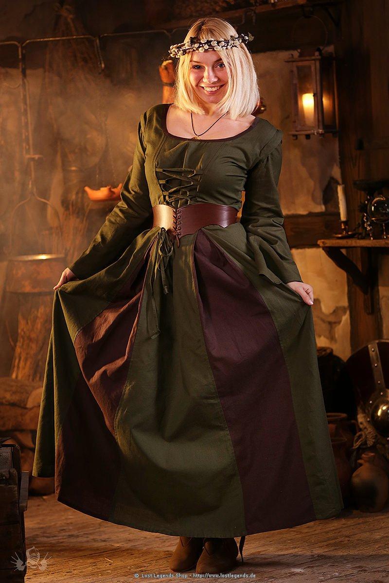 Mittelalterkleid Larpkleid Wynka mit abnehmbaren Ärmeln