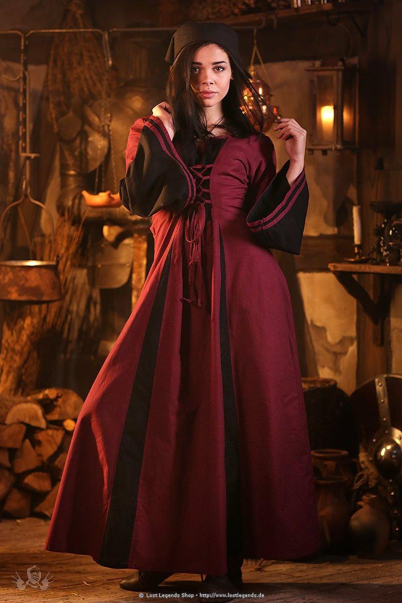 Mittelalter Kleid mit Trompetenärmel