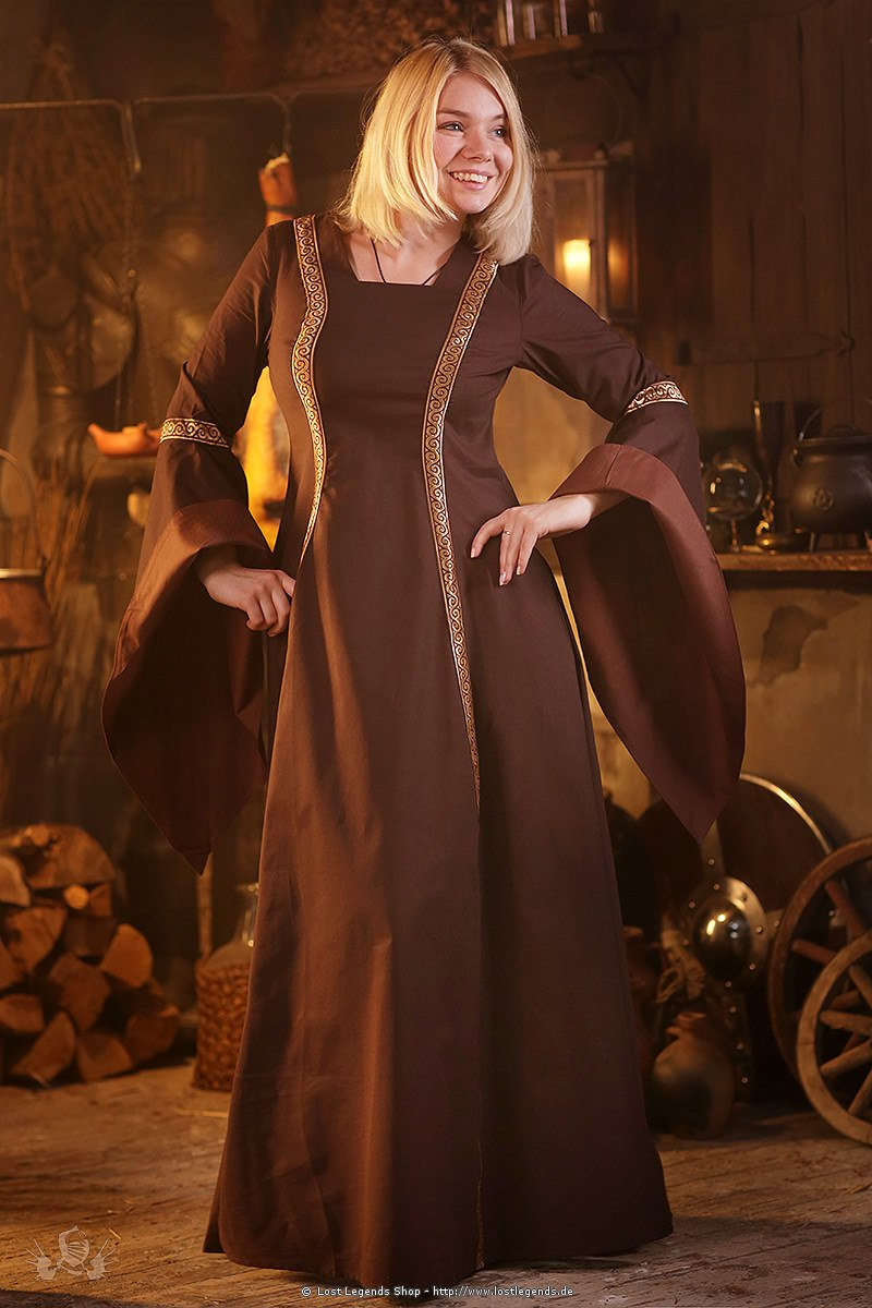 Mittelalter Kleid Rahel, braun