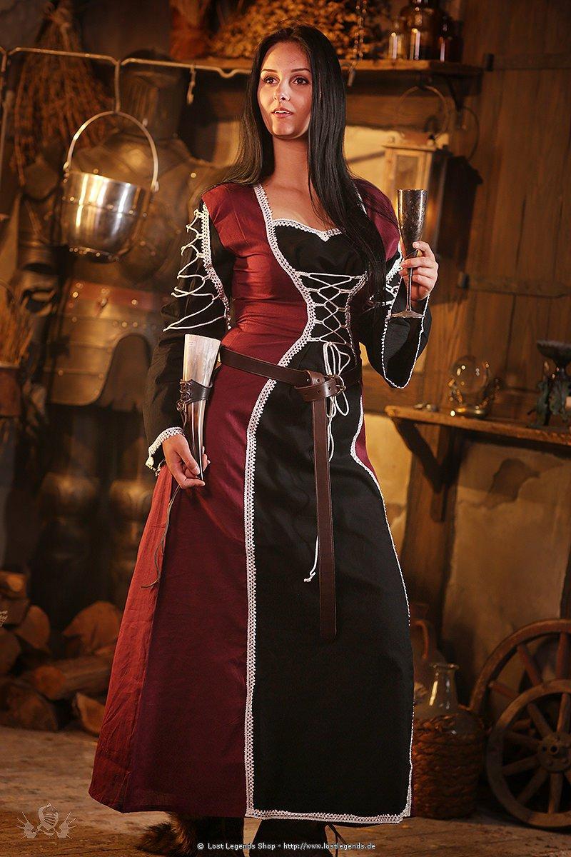Mittelalter Kleid Schnürkleid Dark Corynna