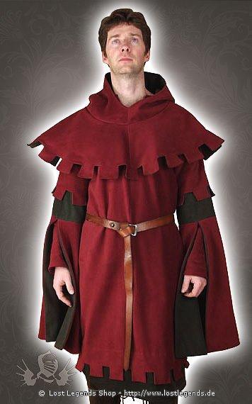 Mittelalter Kleidung mit Zackensaum