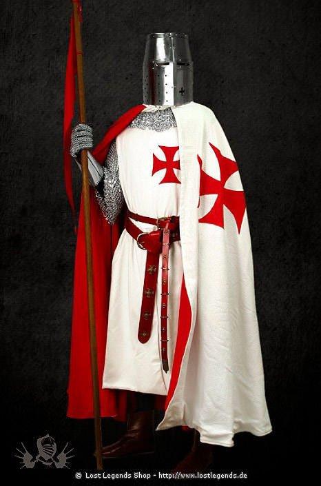Mittelalter-Kleidung Tunika der Tempelritter