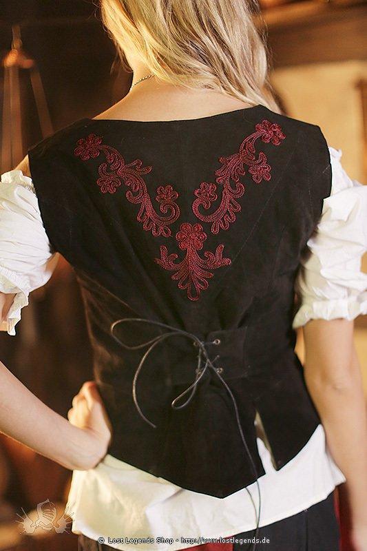 Mittelalter Leder-Mieder mit orientalischen Stickereien