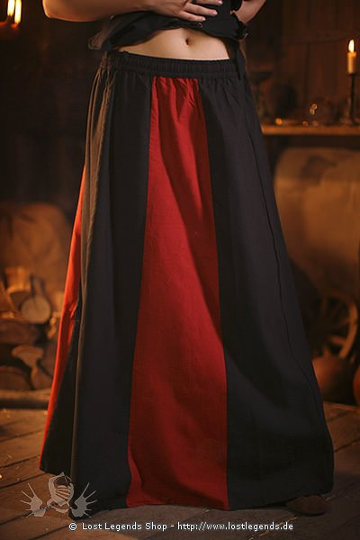 medieval skirt Wych, striped