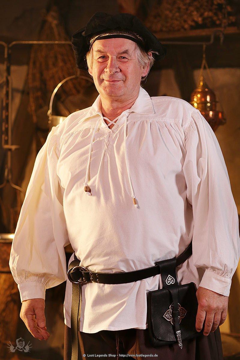 Mittelalter Schnürhemd mit Kragen