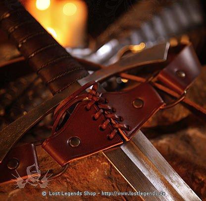 Mittelalter Schwertgehänge Leder