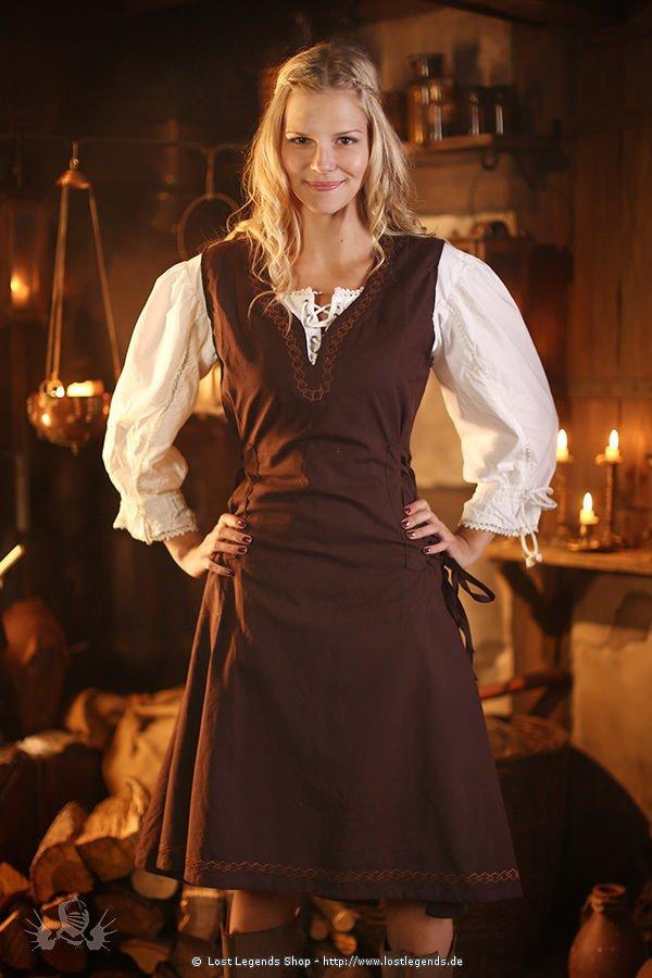 Mittelalterliches Überkleid Lannion, dunkelbraun
