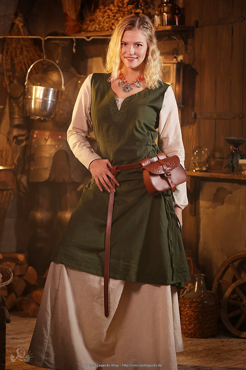 Mittelalterliches Überkleid Lannion, grün