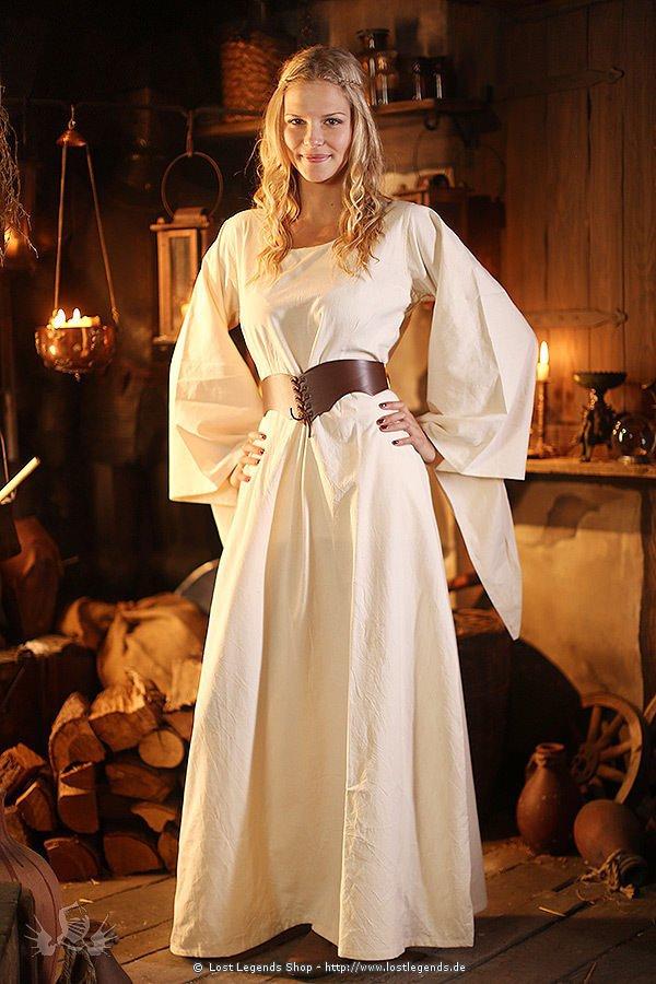Mittelalter Unterkleid Cotte mit Trompetenärmel