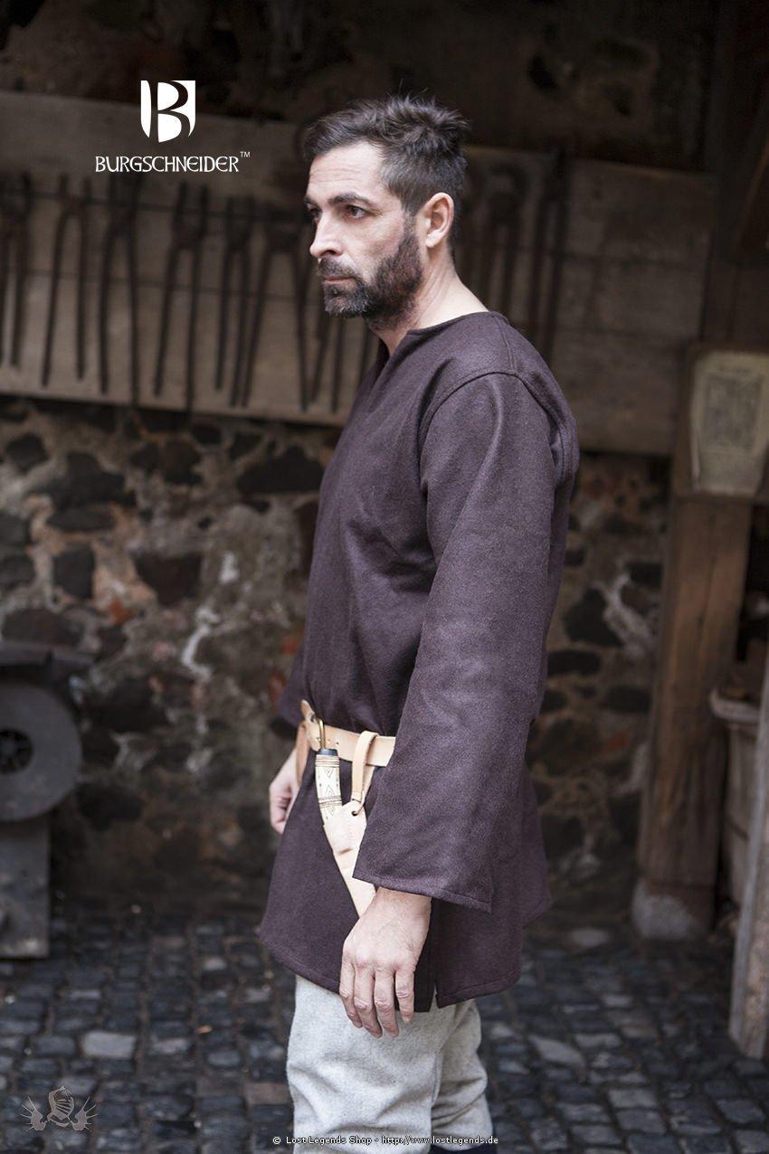 Mittelalter Wolltunika Lodin, braun