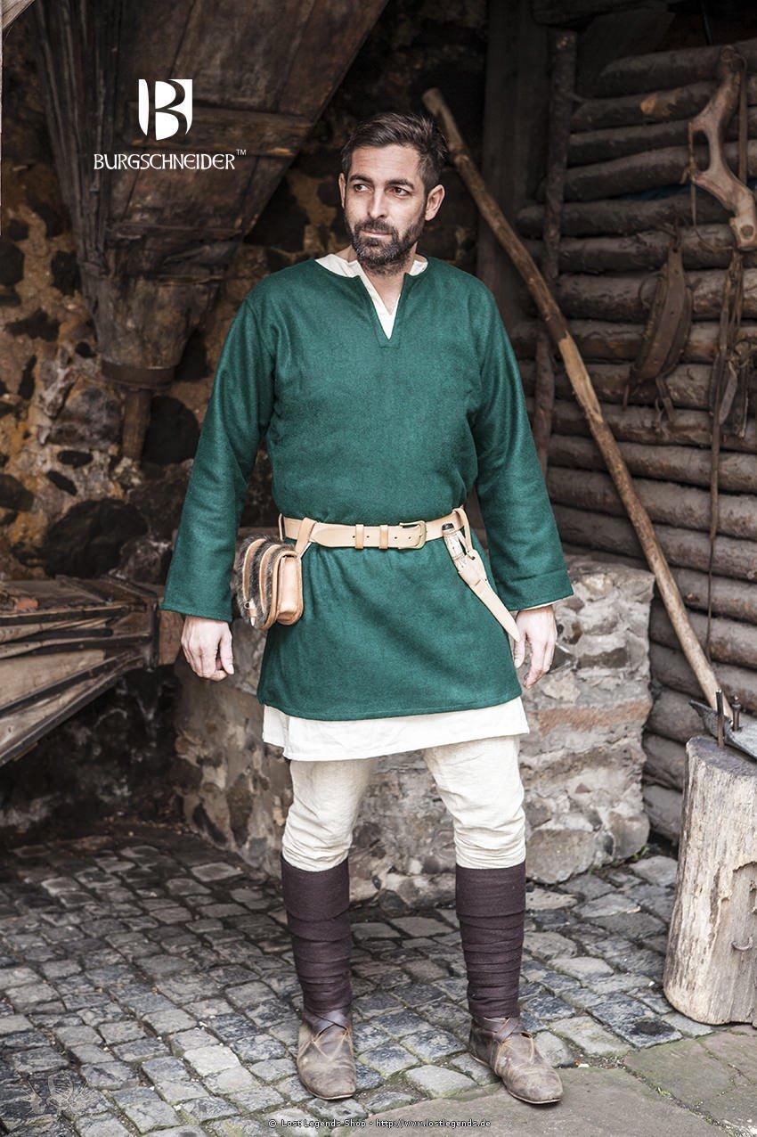 Mittelalter Wolltunika Lodin, grün