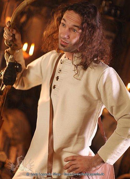 Mittelalterhemd mit Knöpfen